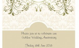 006 Awesome 50th Anniversary Invitation Card Template Highest Clarity  Templates Free