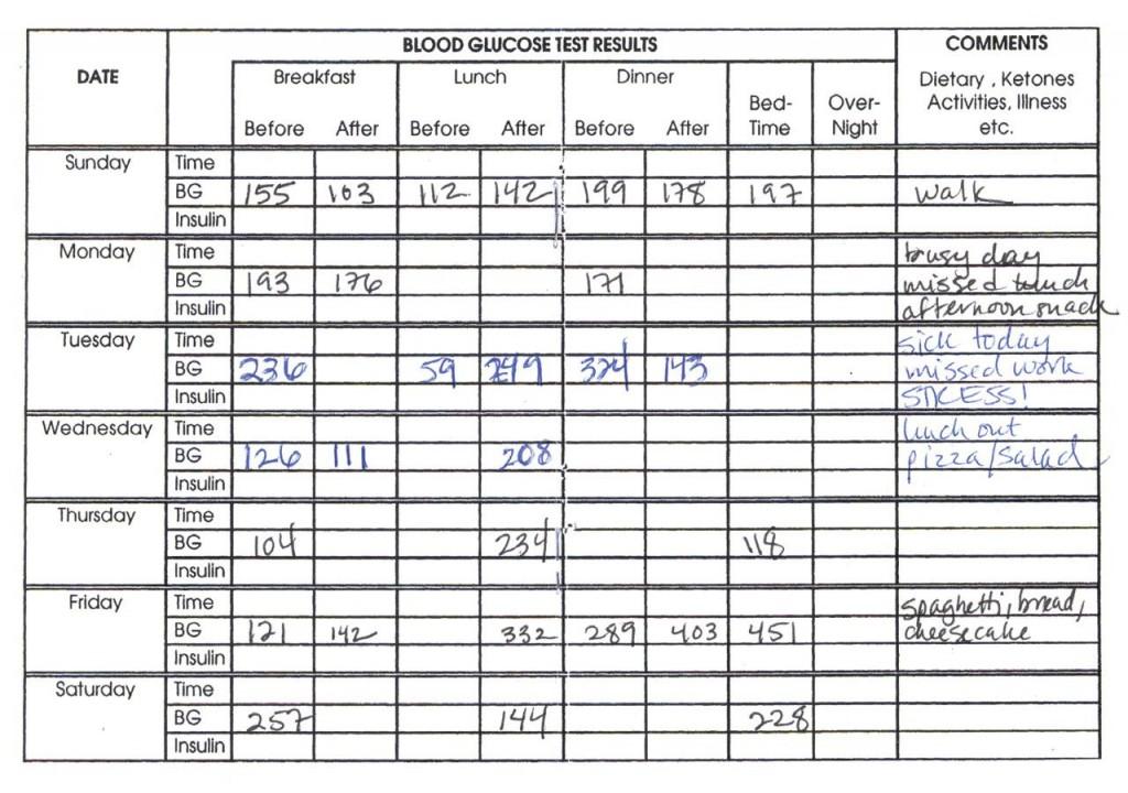 006 Awesome Blood Sugar Log Book Template Idea  GlucoseLarge
