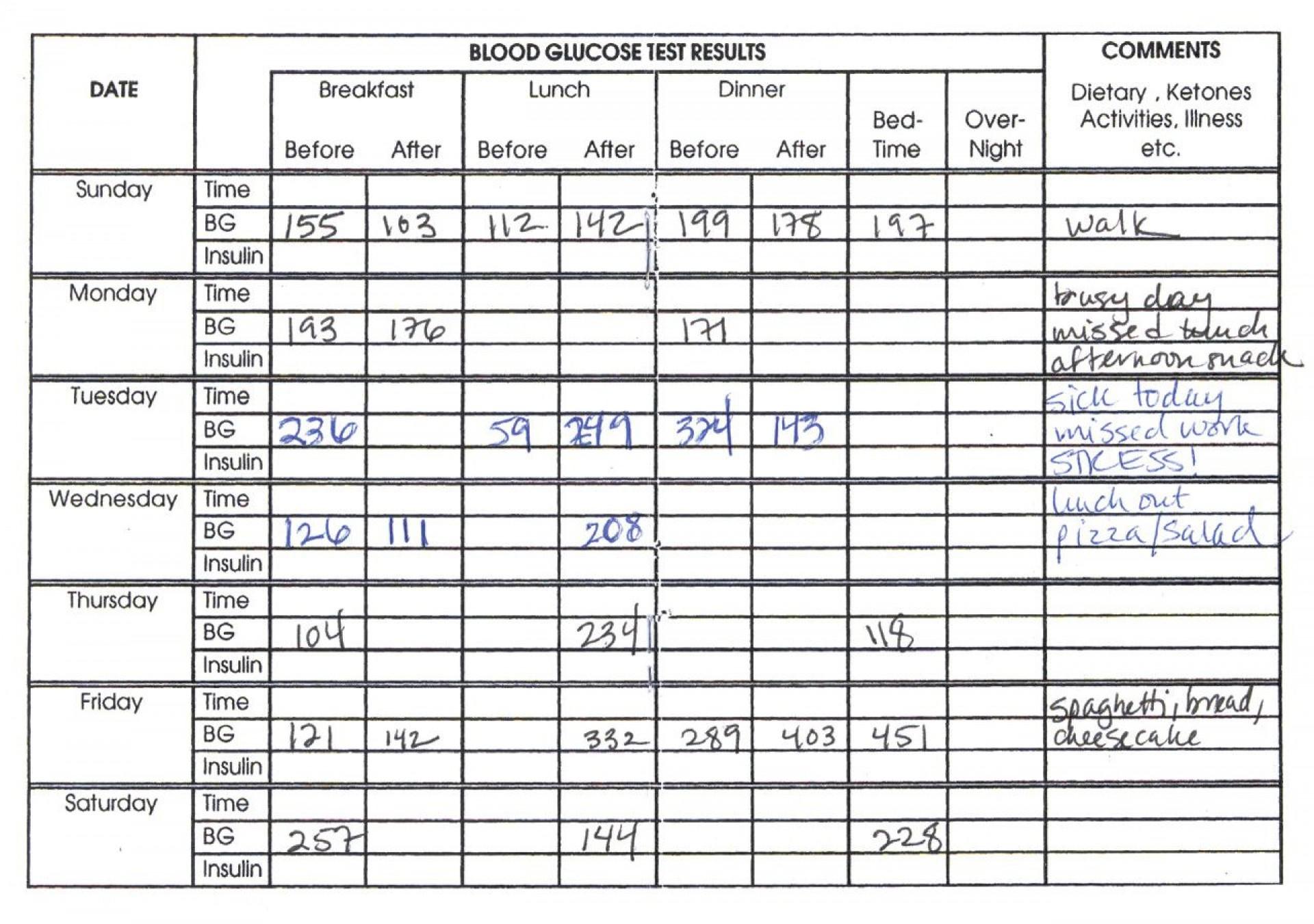006 Awesome Blood Sugar Log Book Template Idea  Glucose1920