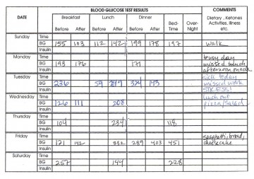 006 Awesome Blood Sugar Log Book Template Idea  Glucose360