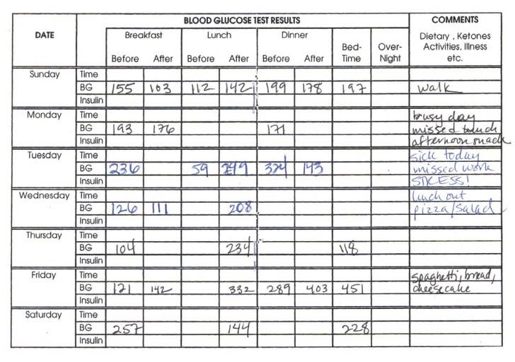 006 Awesome Blood Sugar Log Book Template Idea  Glucose728