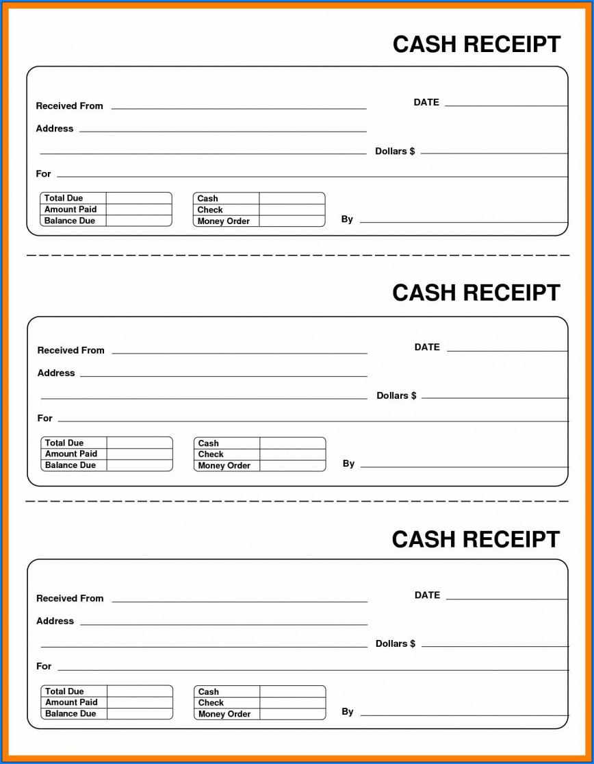 006 Awesome Cash Receipt Template Word Concept  Format Doc India