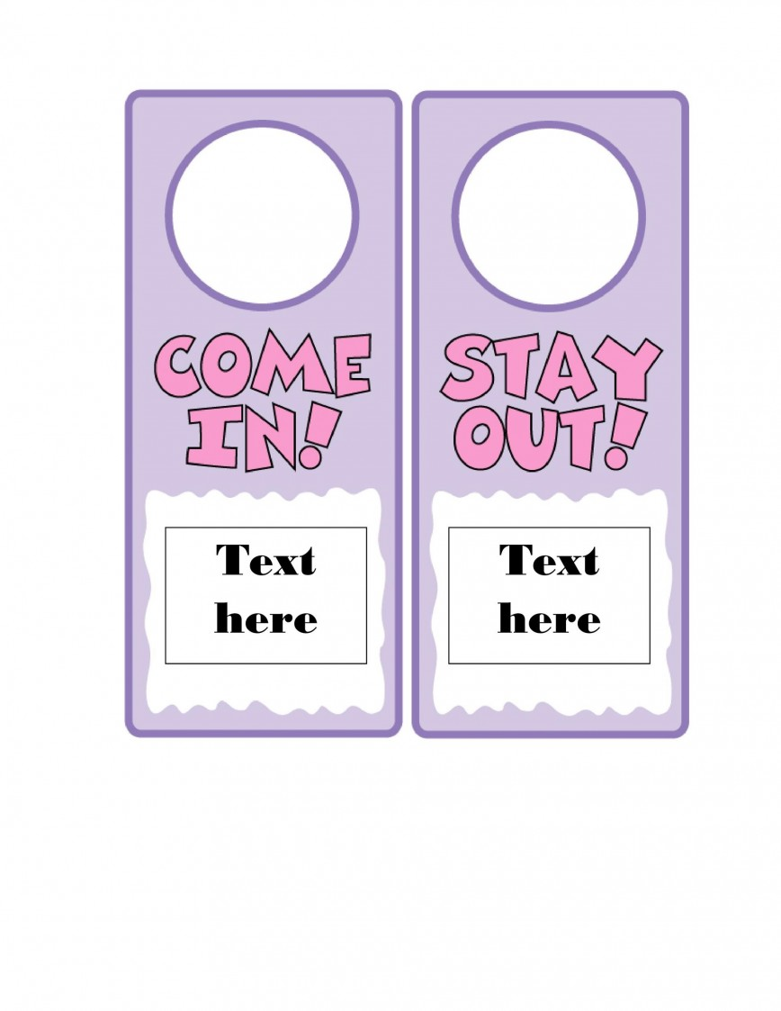 006 Awesome Door Hanger Template For Word Design  Blank Microsoft Free