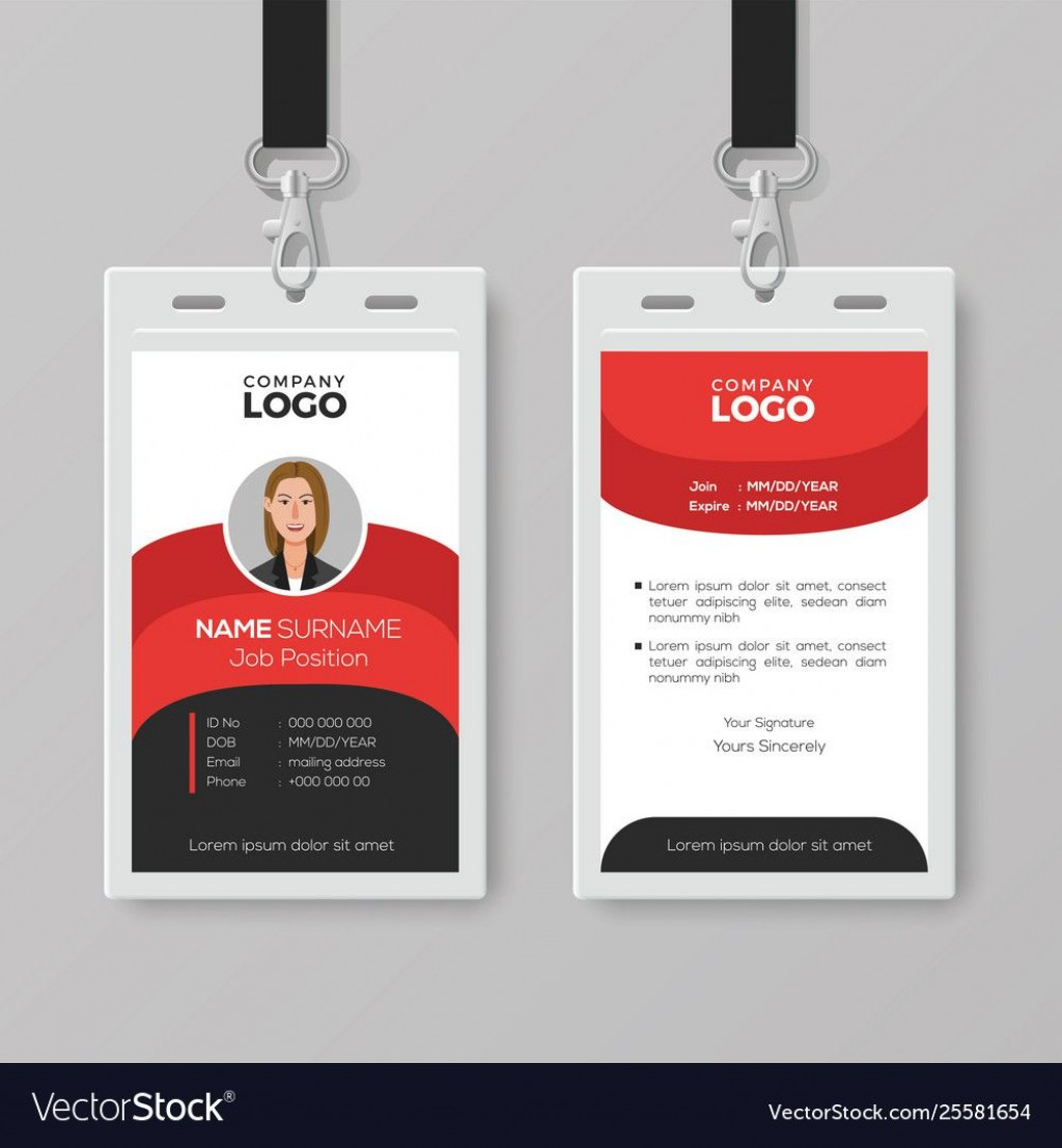 006 Awesome Employee Id Badge Template Design  Avery Card Free Download WordLarge