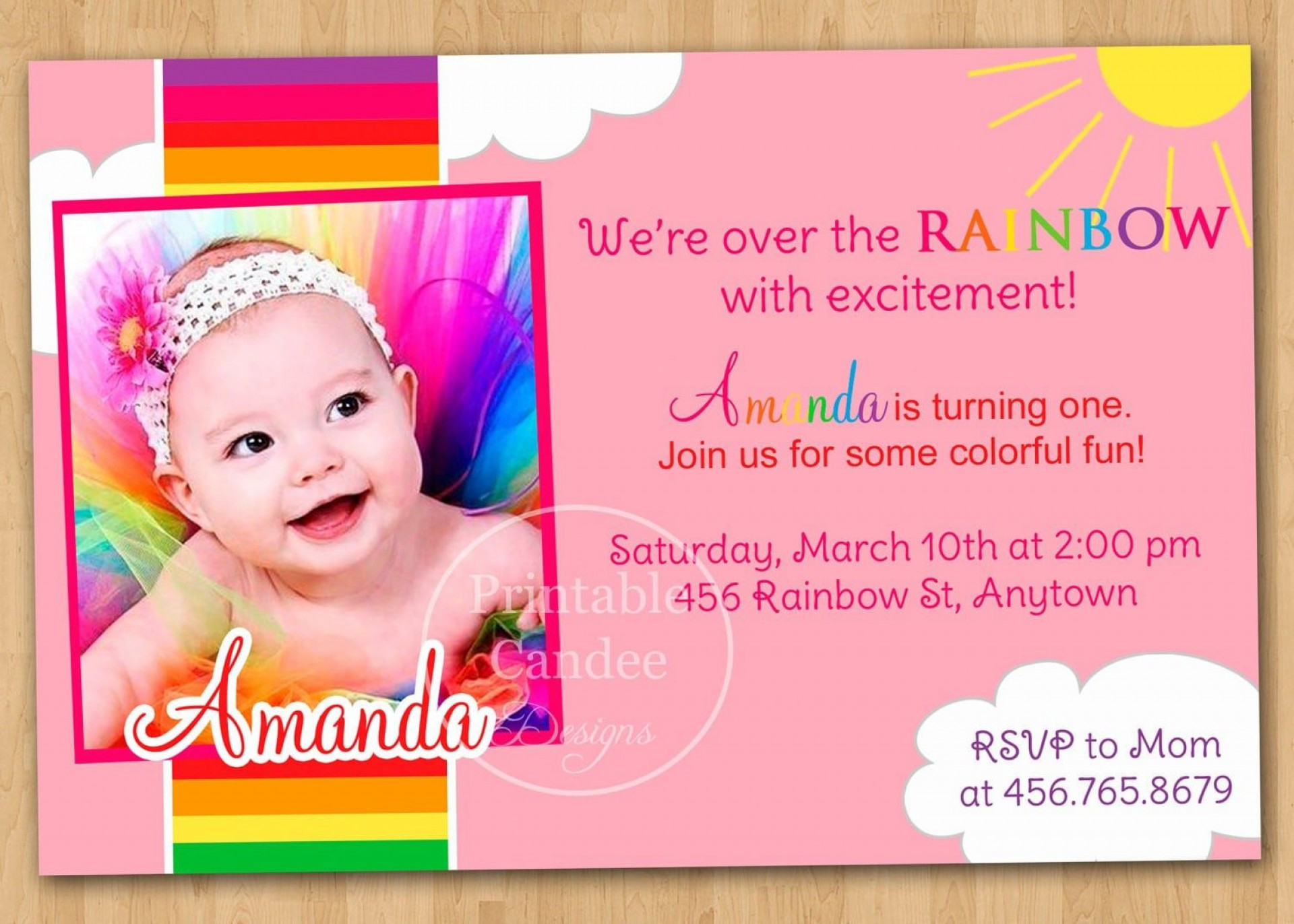 006 Awesome Free 1st Birthday Invitation Template For Word Image 1920