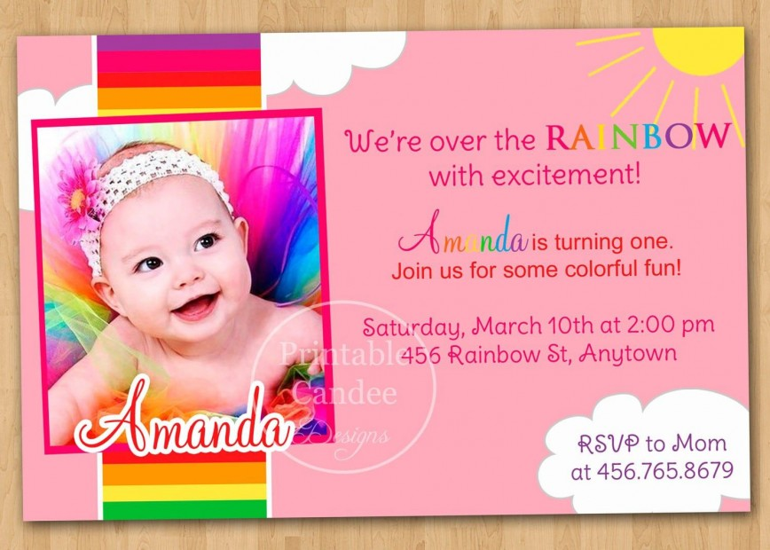 006 Awesome Free 1st Birthday Invitation Template For Word Image