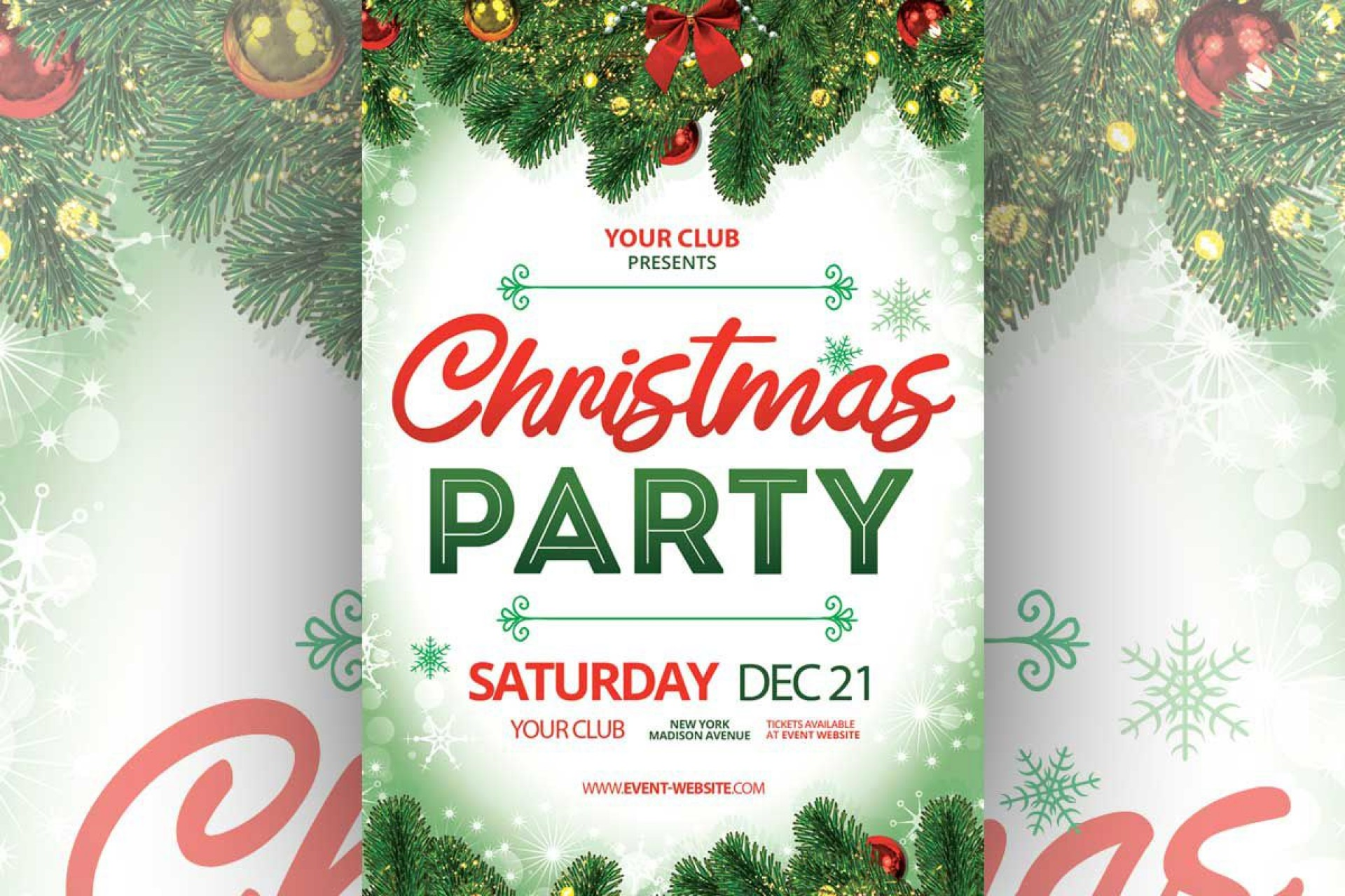 006 Awesome Free Christma Poster Template High Definition  Uk Party Download Fair1920