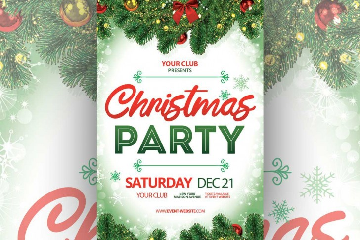 006 Awesome Free Christma Poster Template High Definition  Uk Party Download Fair728
