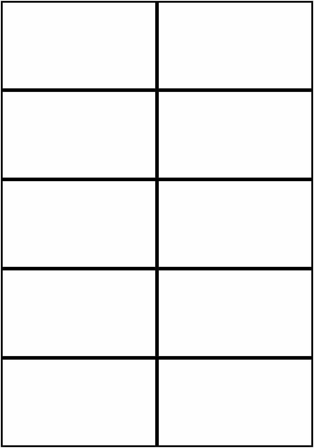 006 Awesome Free Printable Card Template Word Example  Blank Busines ForFull