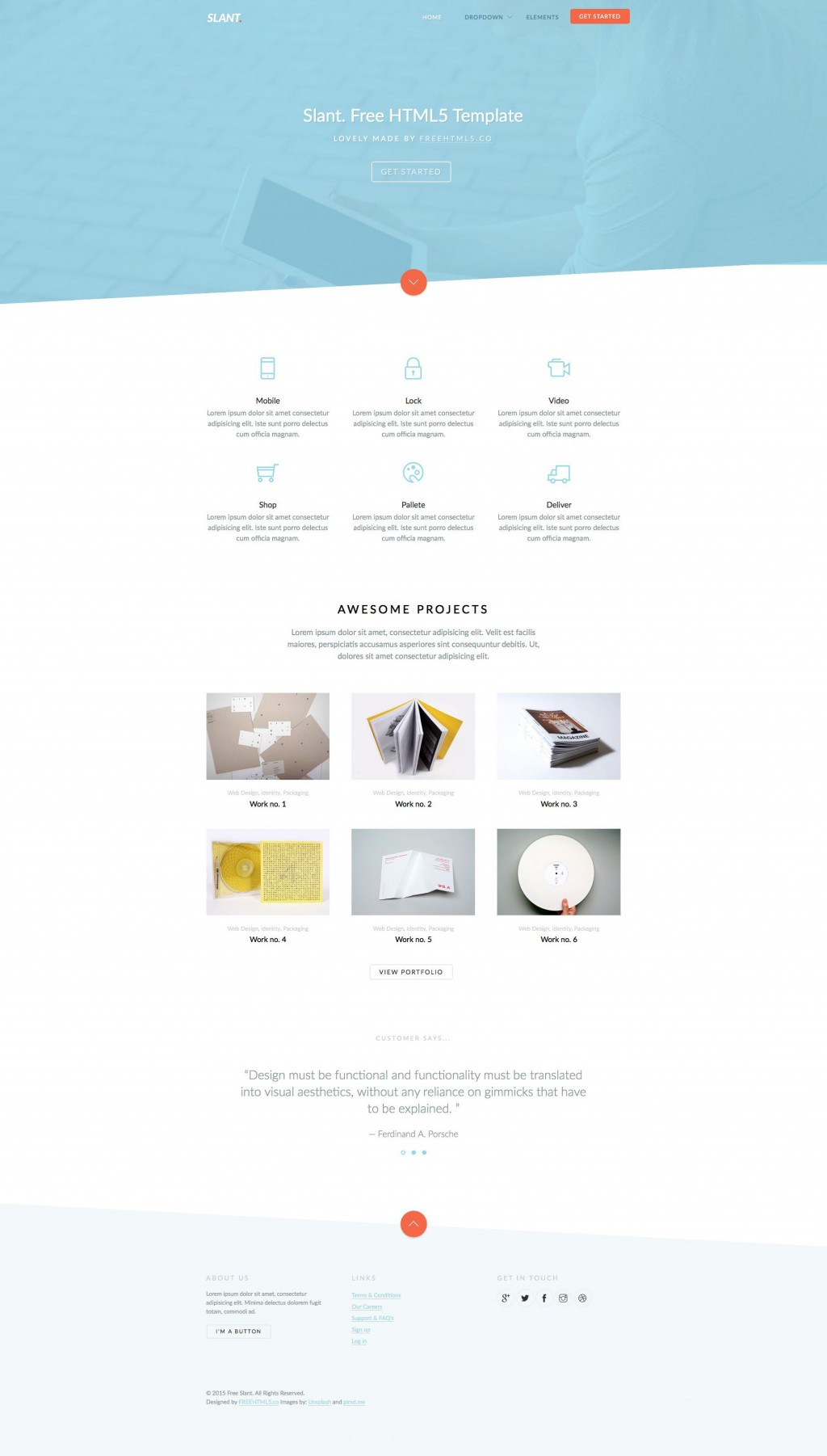 006 Awesome Free Responsive Website Template Download Html And Cs Jquery High Resolution  For It CompanyLarge