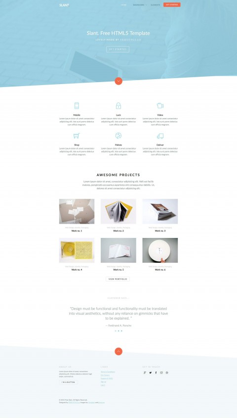 006 Awesome Free Responsive Website Template Download Html And Cs Jquery High Resolution  For It Company480