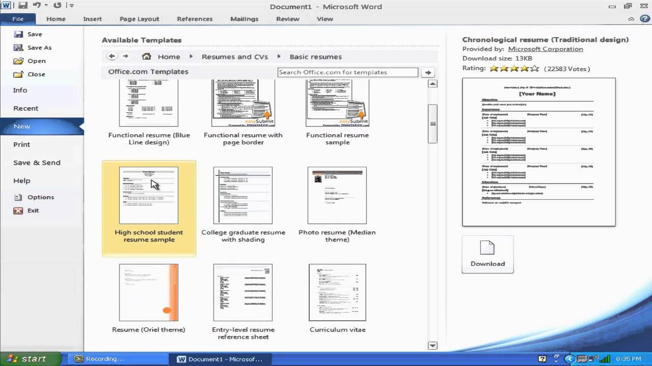 006 Awesome How To Create A Resume Template In Microsoft Word Example  Cv/resume DocxFull
