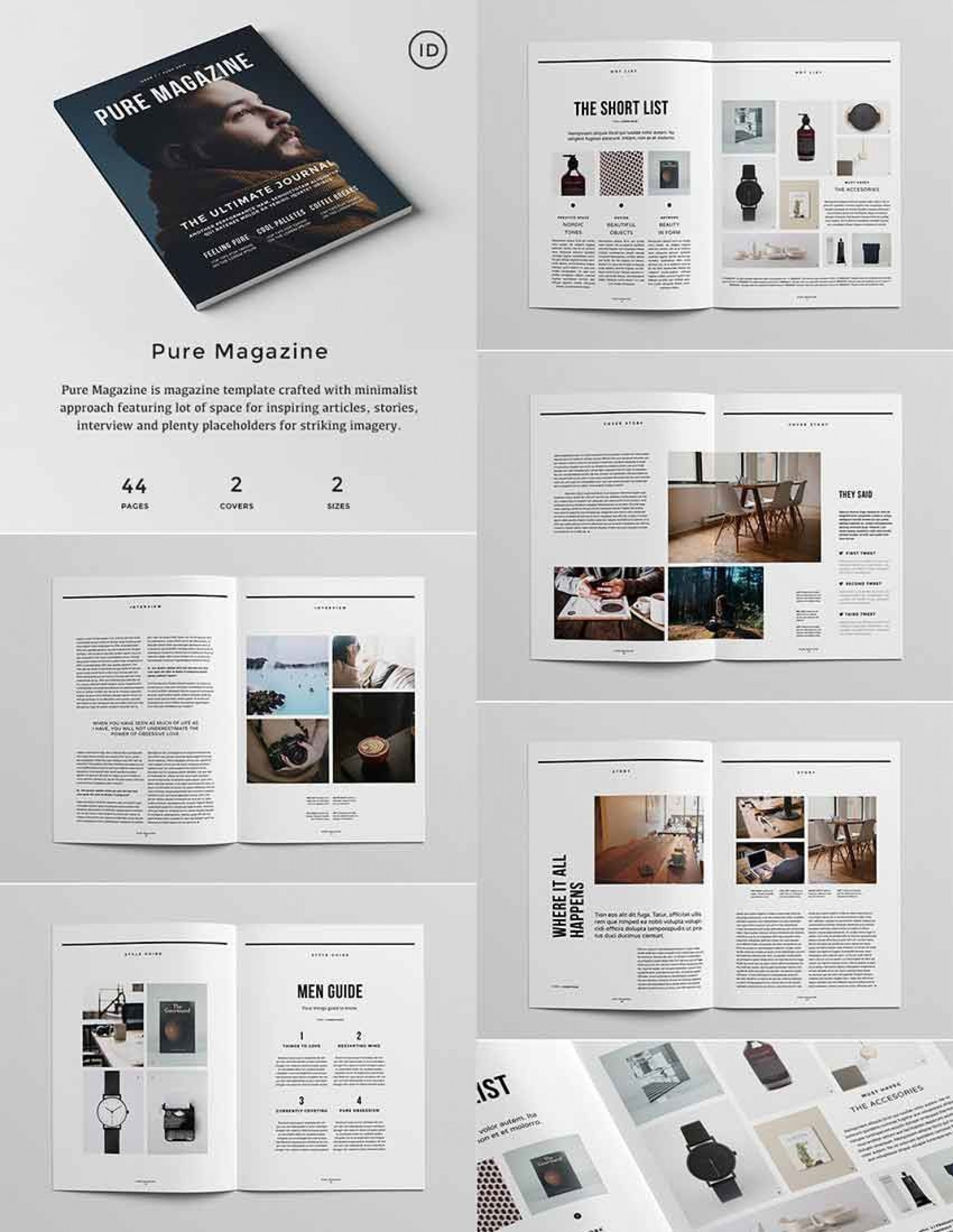 006 Awesome Indesign Magazine Template Free Picture  Cover Download Indd Cs51920