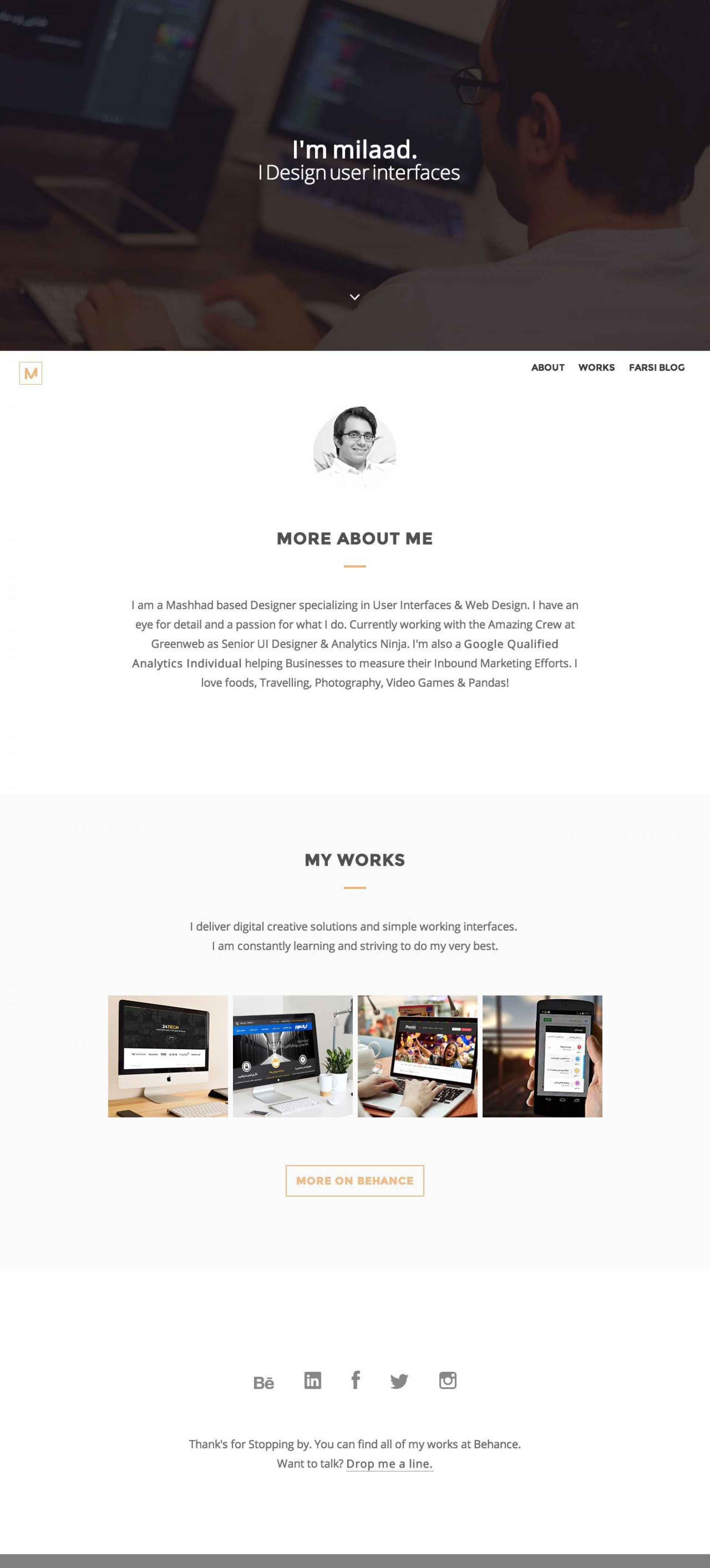 006 Awesome Iran Free One Page Psd Website Template High Resolution 1920