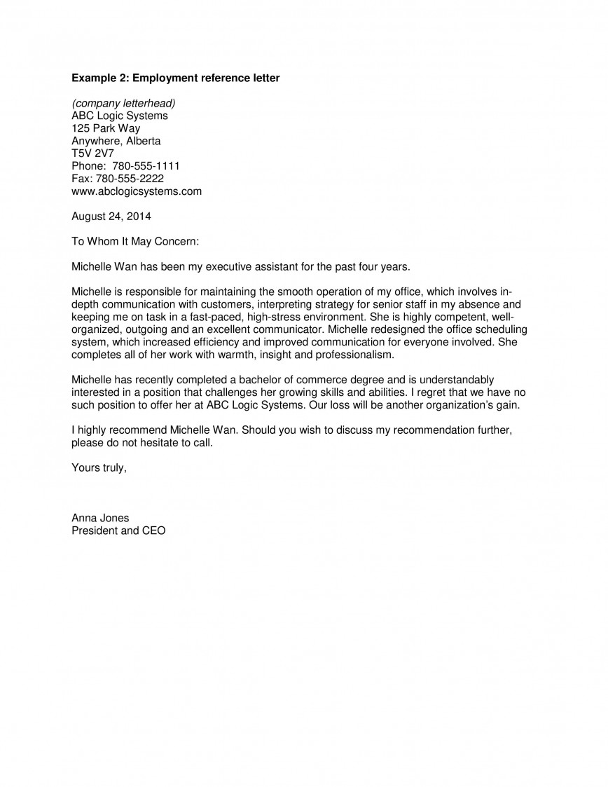 Work Reference Letter Sample from www.addictionary.org
