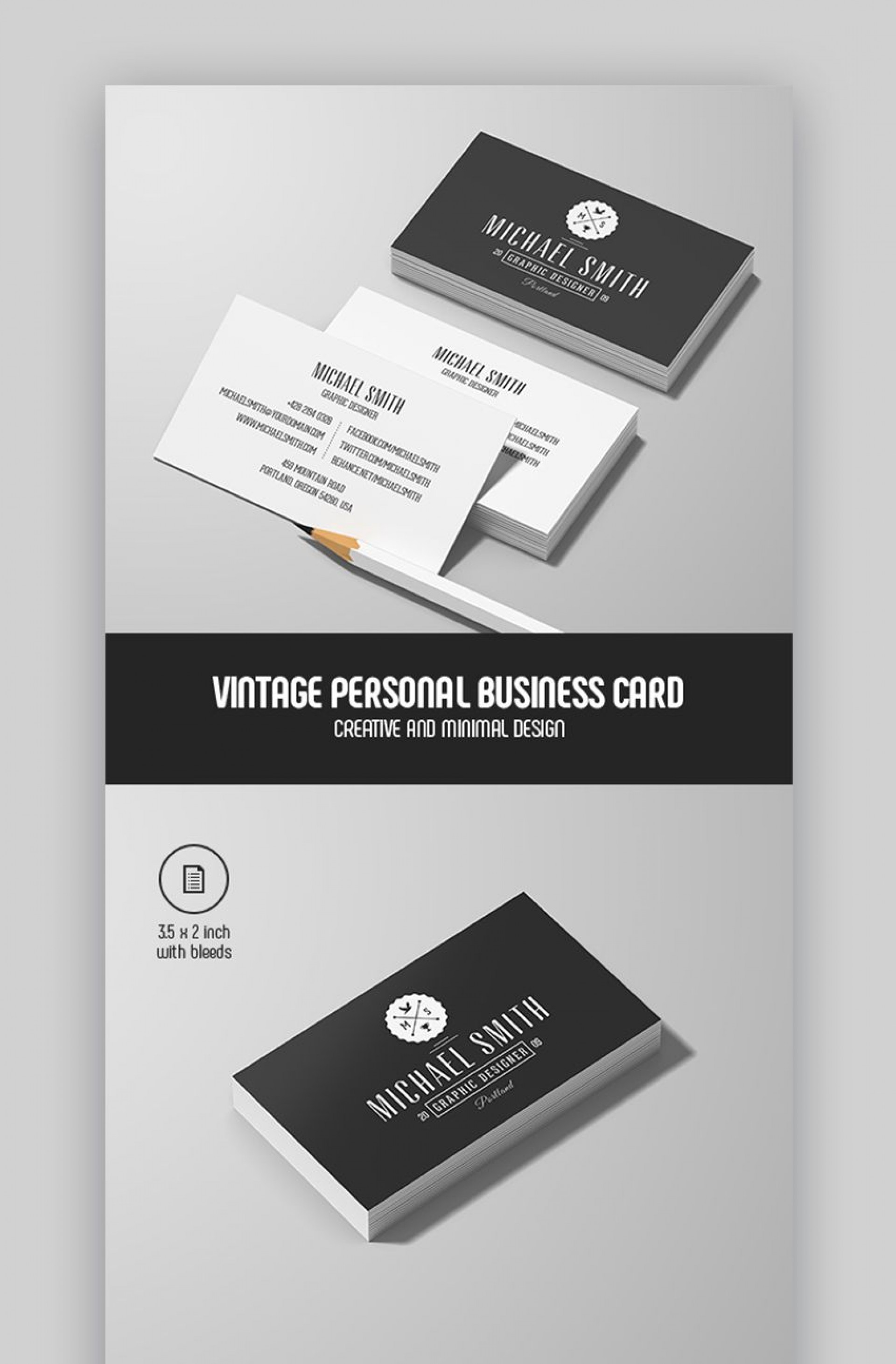 006 Awesome Personal Busines Card Template High Def  Trainer Design Psd Fitnes1920