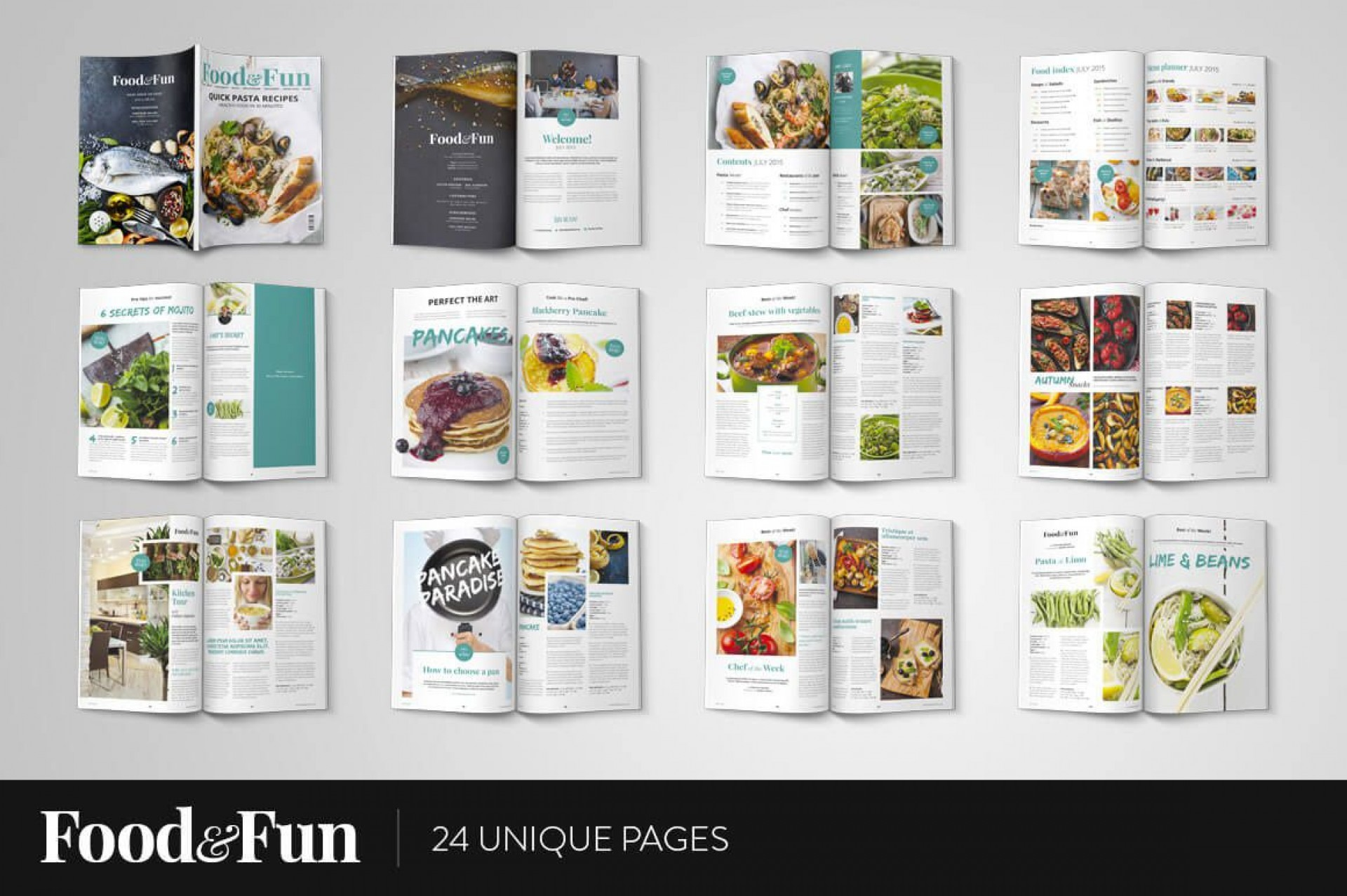 006 Awesome Photoshop Magazine Layout Template Free Download High Def 1920