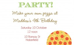 006 Awesome Pizza Party Invitation Template Free High Resolution  Printable