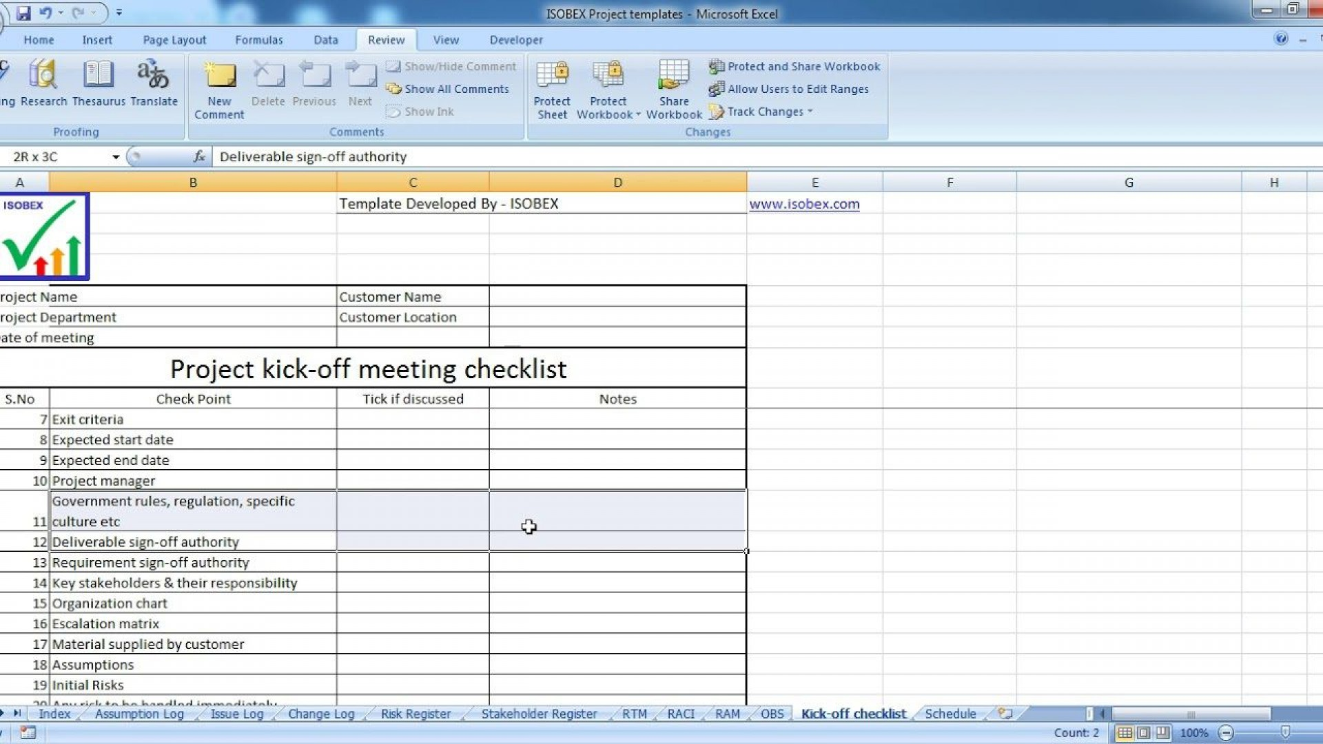 006 Awesome Project Kickoff Meeting Template Xl Picture  Xls Excel1920