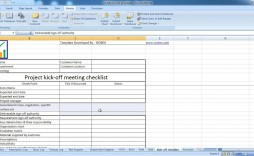 006 Awesome Project Kickoff Meeting Template Xl Picture  Xls Excel