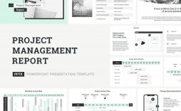 006 Awesome Project Management Report Template Ppt Picture  Weekly Statu