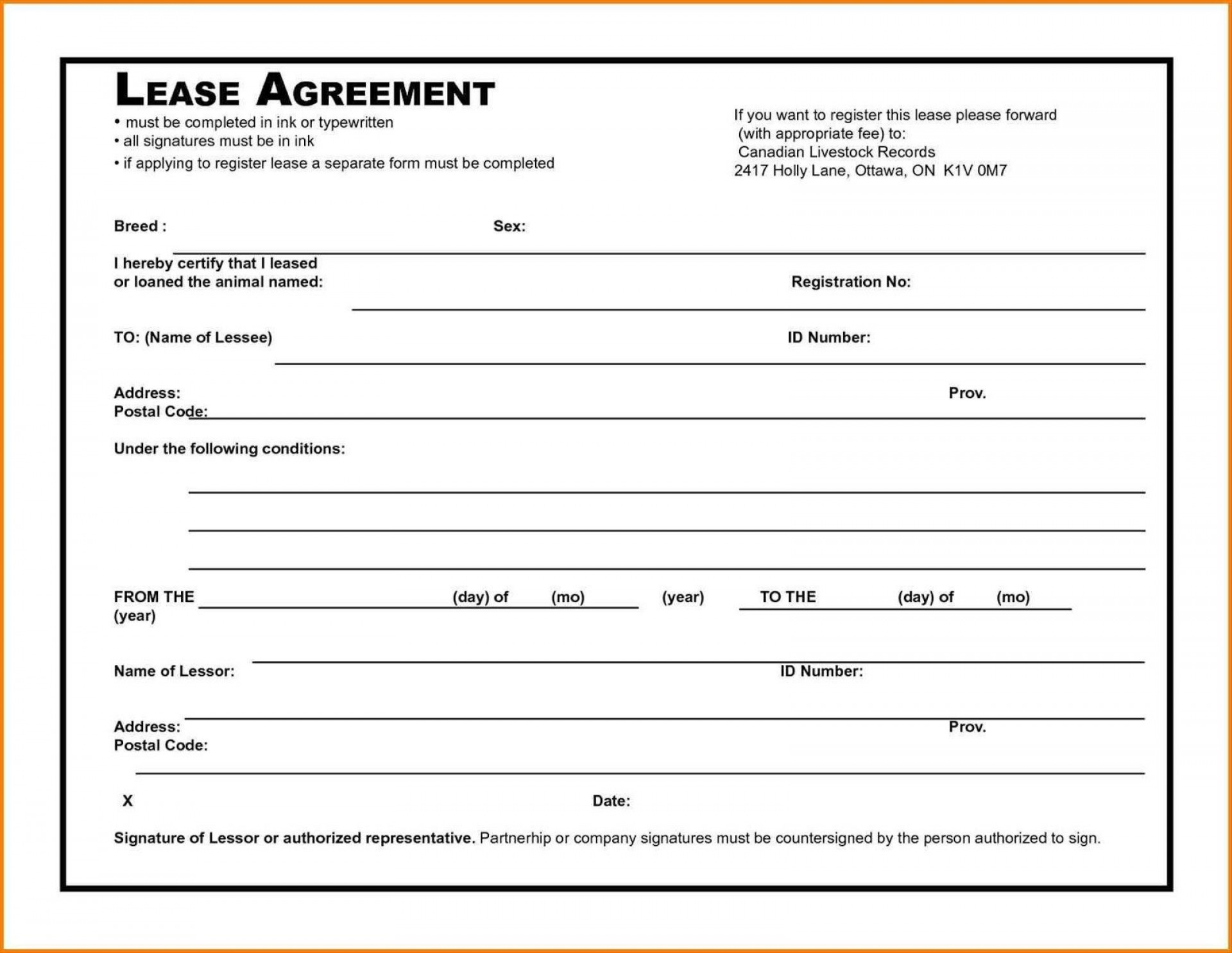 006 Awesome Rental Agreement Template Free Picture  Tenancy Rent Pdf1920