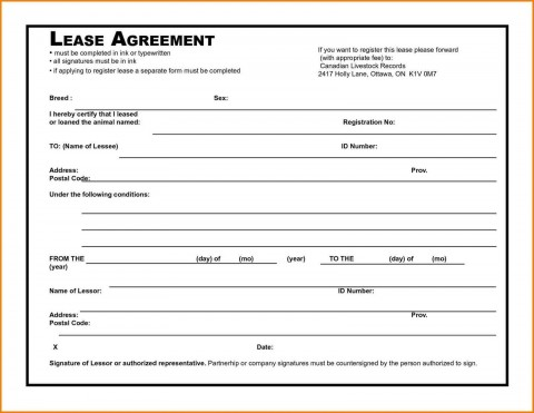 006 Awesome Rental Agreement Template Free Picture  Tenancy Form Download Word480