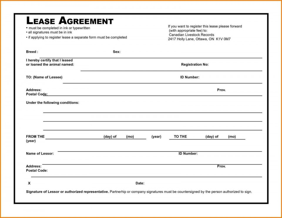 006 Awesome Rental Agreement Template Free Picture  Tenancy Form Download Word960