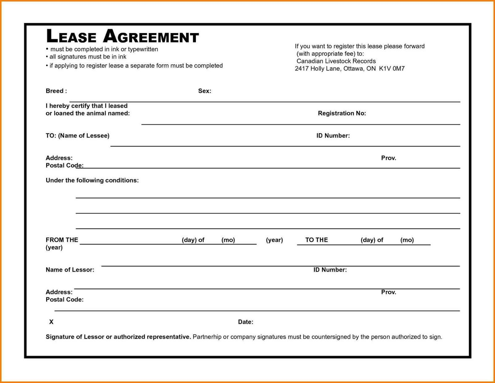 006 Awesome Rental Agreement Template Free Picture  Tenancy Rent PdfFull