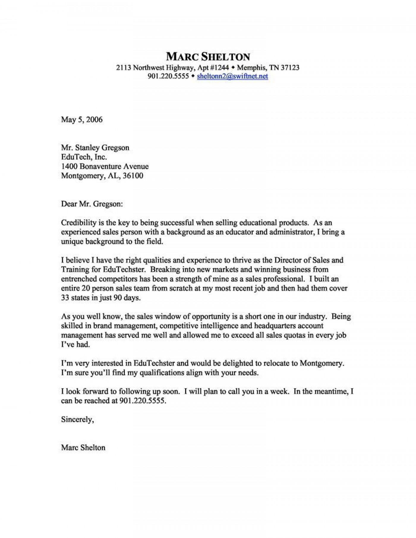 006 Awesome Sale Cover Letter Template Highest Clarity  Account Manager Word Rep1400