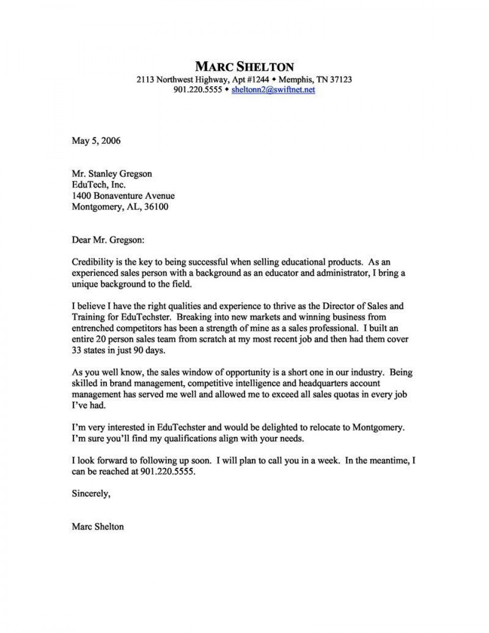 006 Awesome Sale Cover Letter Template Highest Clarity  Account Manager Word Rep960