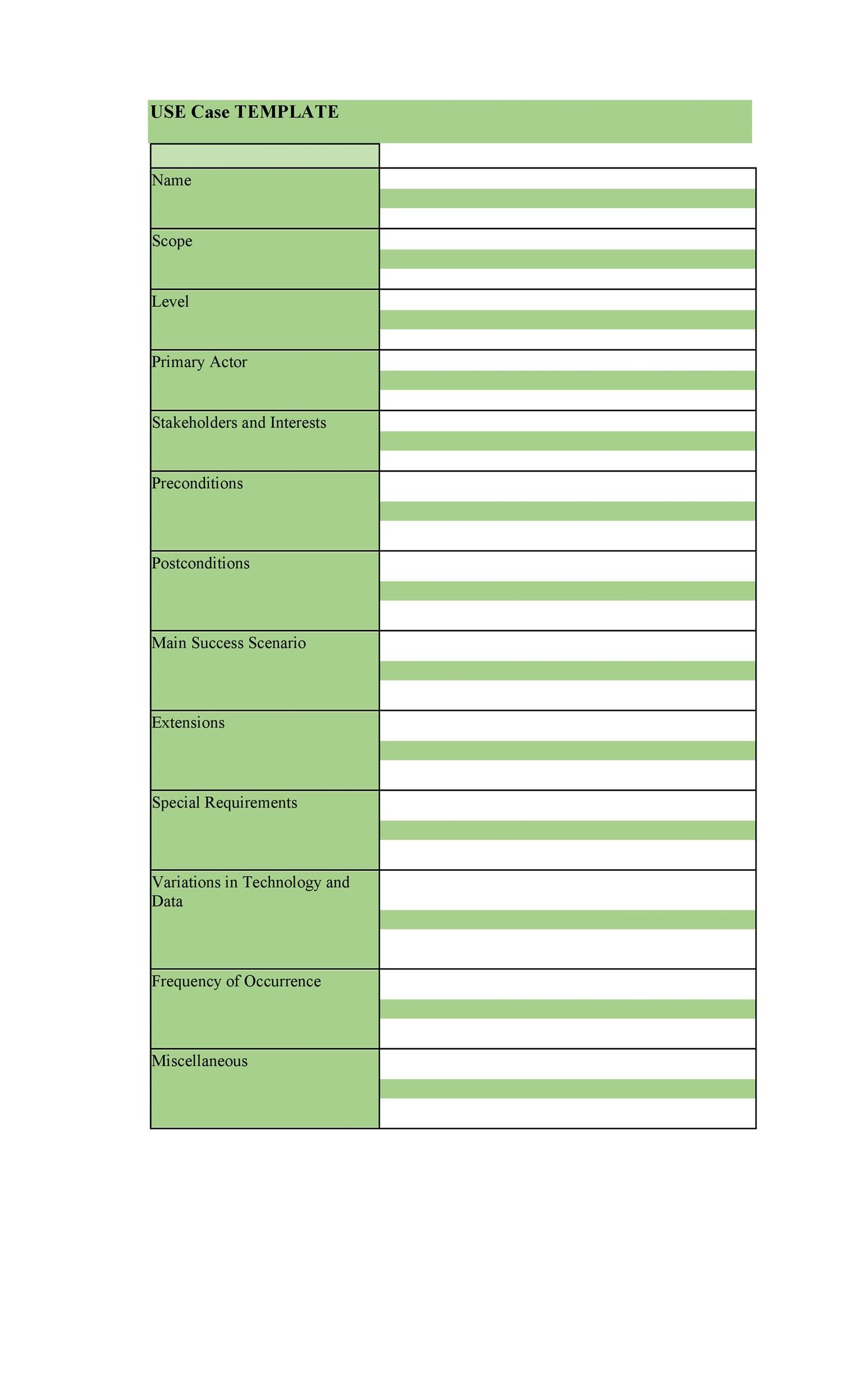 006 Awesome Use Case Template Word Idea  Doc Test