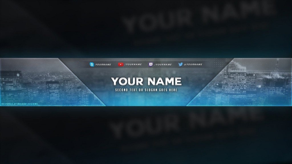 006 Awesome Youtube Channel Art Template Photoshop Download Highest Clarity Large