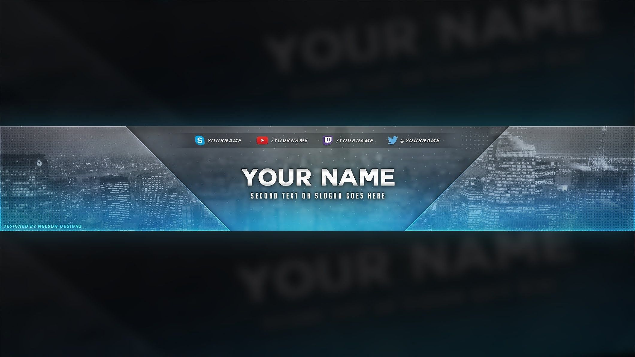 006 Awesome Youtube Channel Art Template Photoshop Download Highest Clarity Full