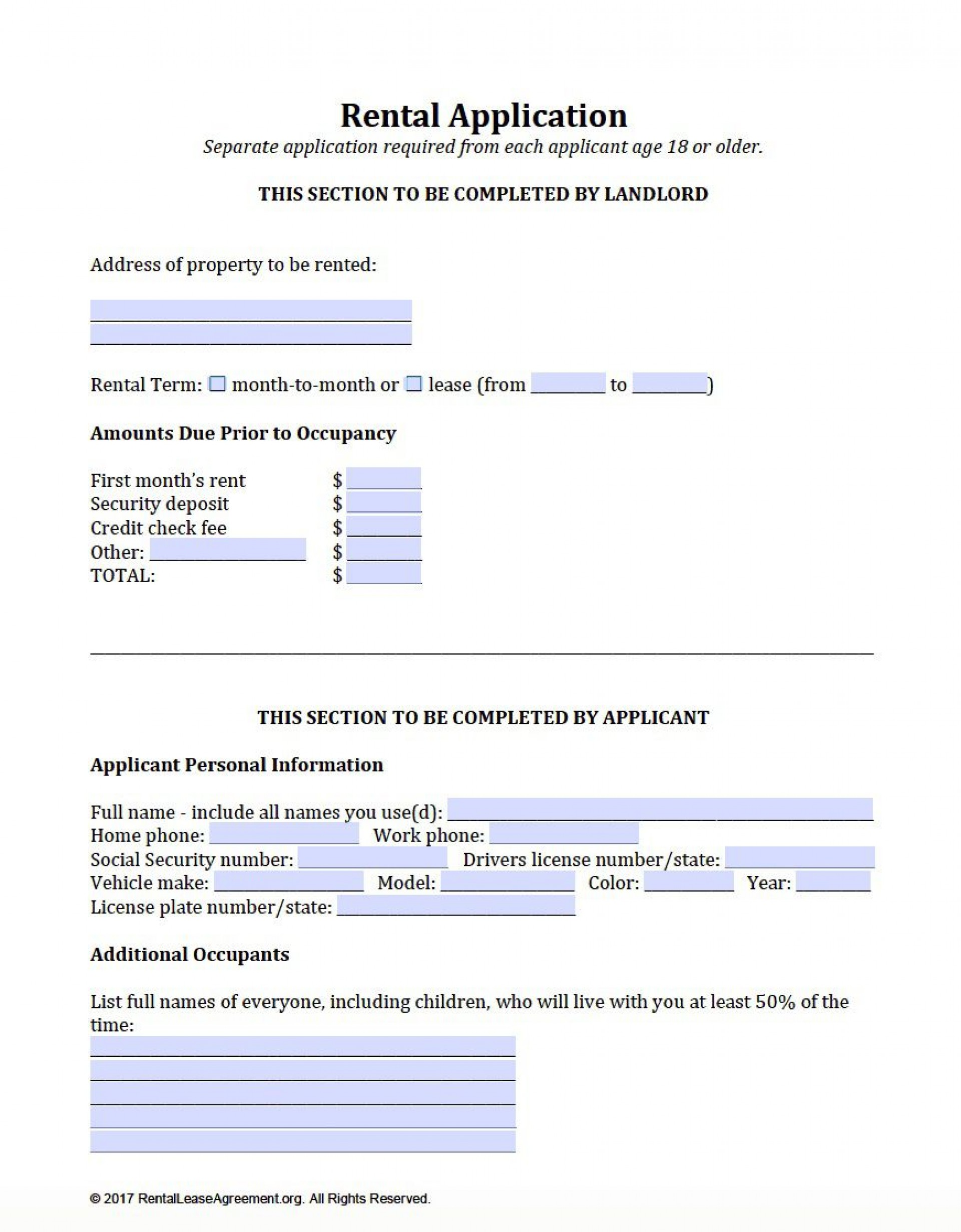 006 Awful Apartment Rental Application Template Picture  Free Form Ontario1920