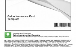 006 Awful Auto Insurance Card Template Pdf High Definition  Car Fake Geico Filler