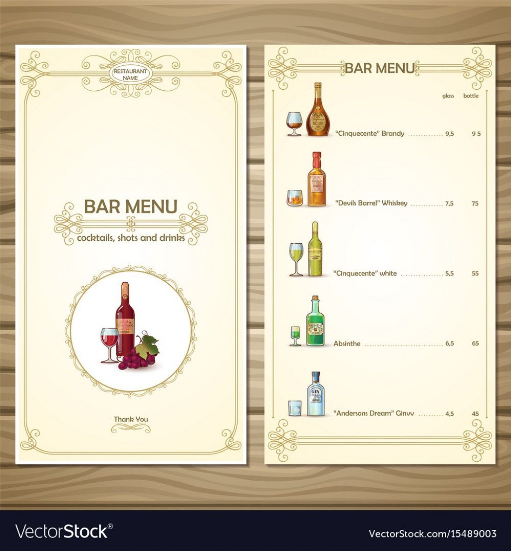 006 Awful Bar Menu Template Free High Def  Download SnackLarge