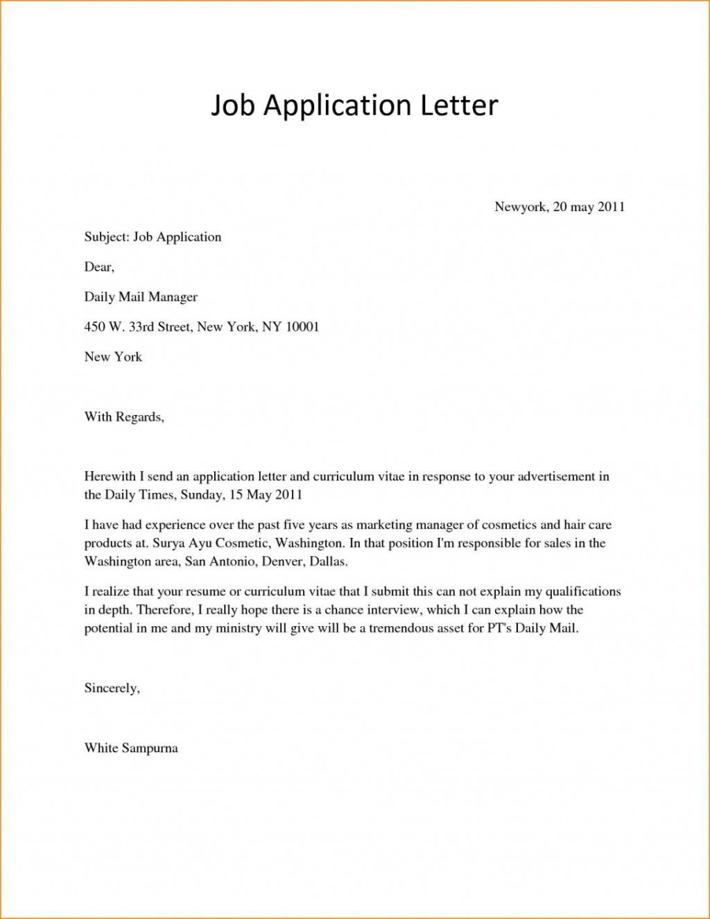 006 Awful Basic Covering Letter Template Photo  Simple Application Word Example Of Job CoverLarge
