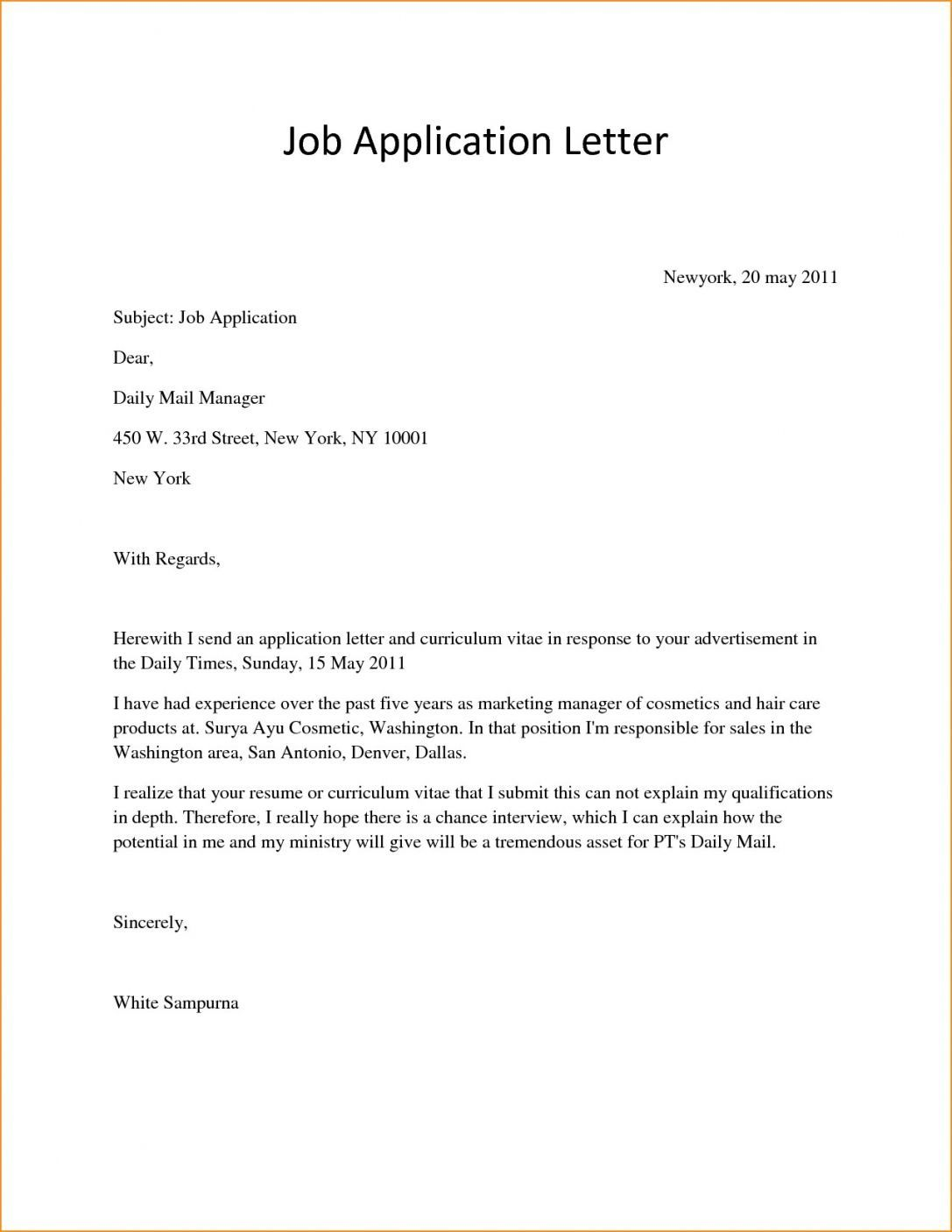 006 Awful Basic Covering Letter Template Photo  Simple Application Job Sample CoverFull