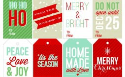 006 Awful Christma Label Template Free Design  Present Gift Tag Editable Mailing