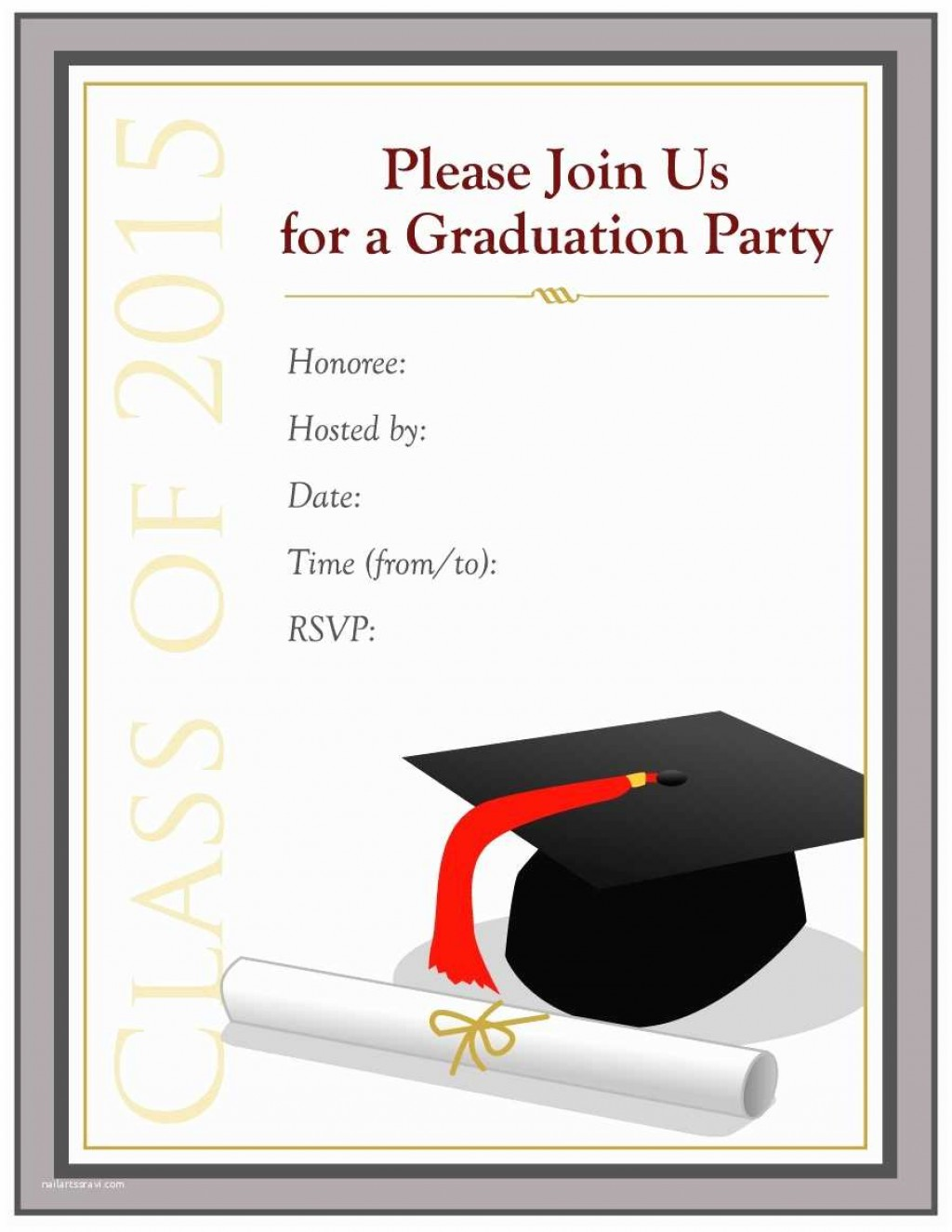 006 Awful College Graduation Invitation Template Sample  Party Free For WordLarge