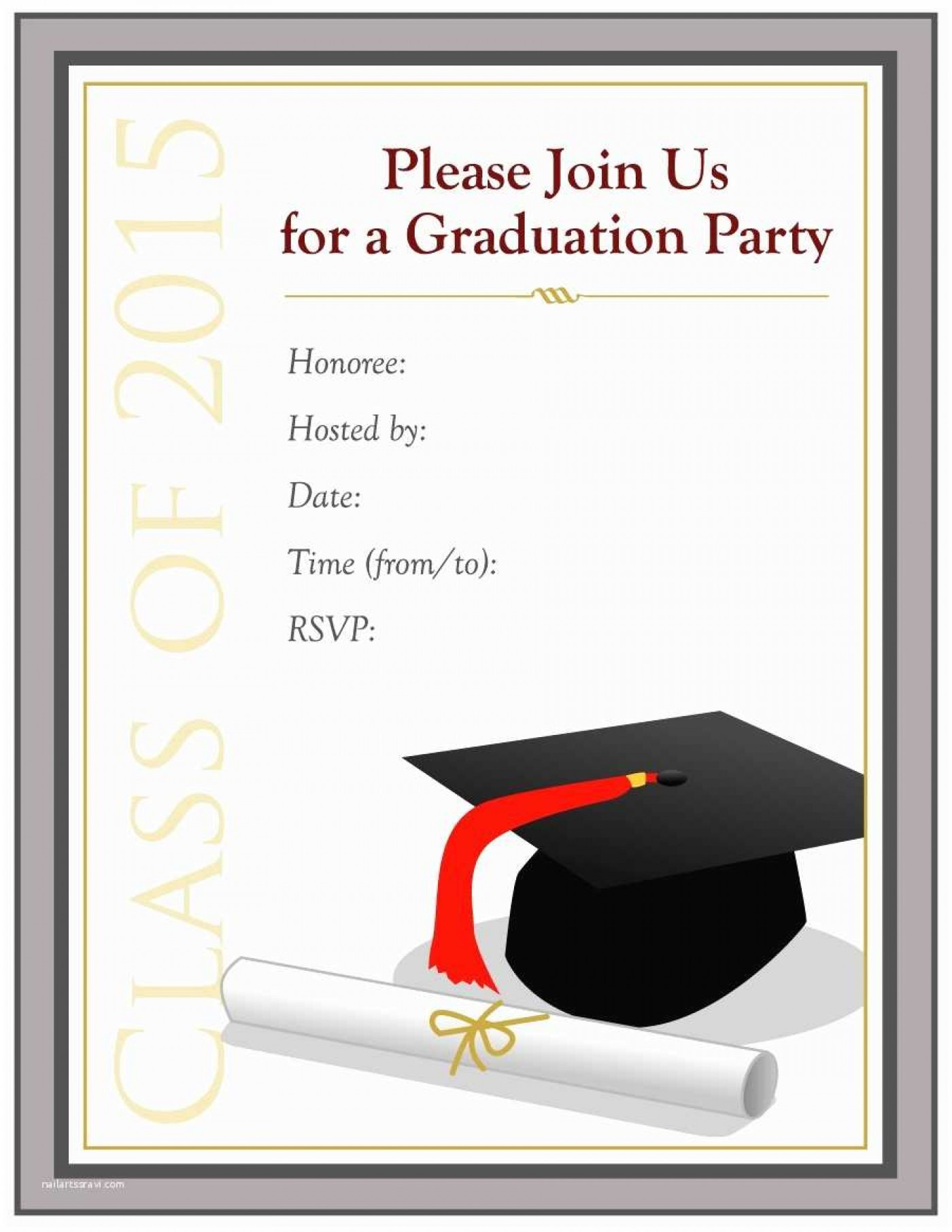 006 Awful College Graduation Invitation Template Sample  Party Free For Word1400