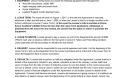 006 Awful Equipment Lease Contract Template Free High Definition  Agreement Word