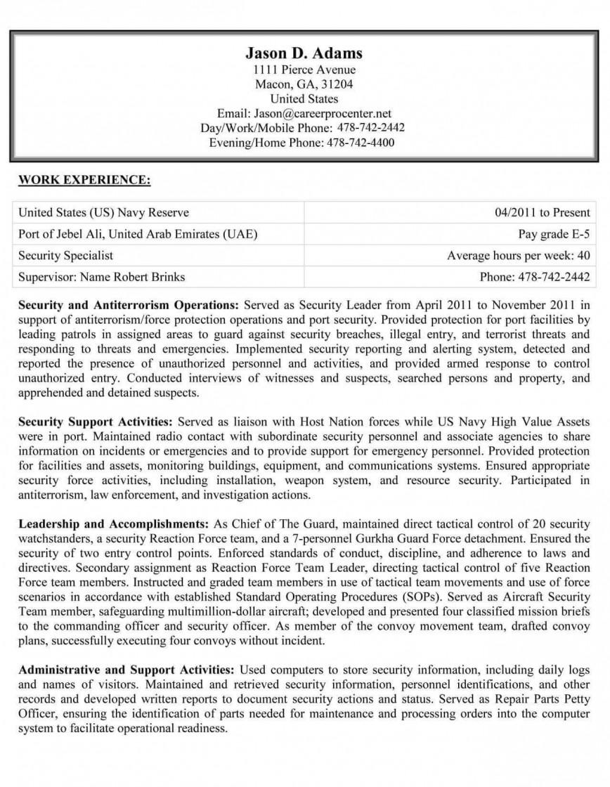 Federal Job Resume Template Addictionary