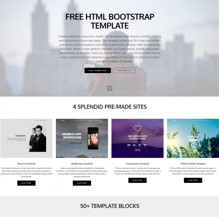 006 Awful Free Bootstrap Website Template Concept  2020 Responsive Download For Busines Education728