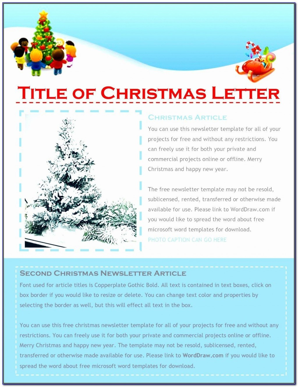 006 Awful Free Christma Letter Template For Microsoft Word Concept  Downloadable NewsletterLarge