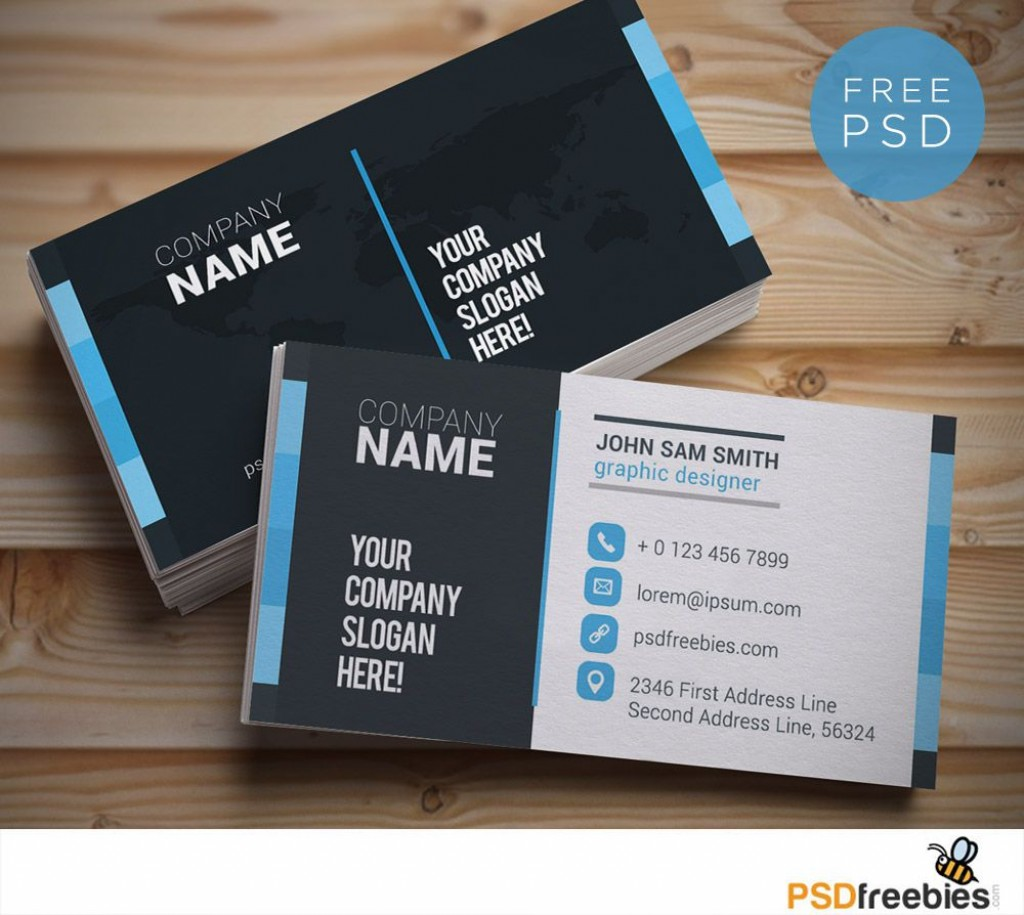 006 Awful Free Download Busines Card Template Highest Quality  Microsoft Word Photoshop Psd Double SidedLarge