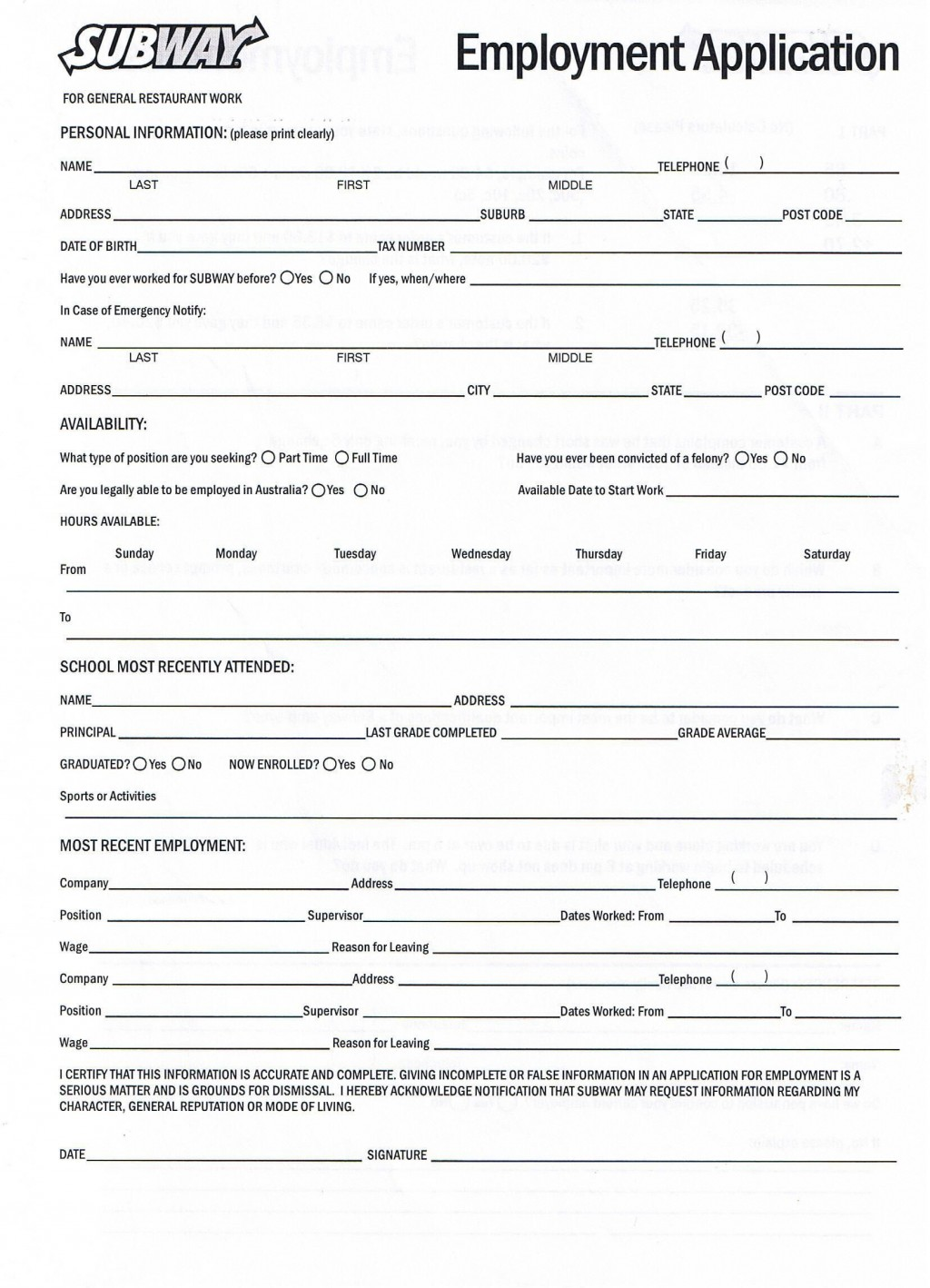 006 Awful Free Employment Application Form Printable High Definition  EmployeeLarge