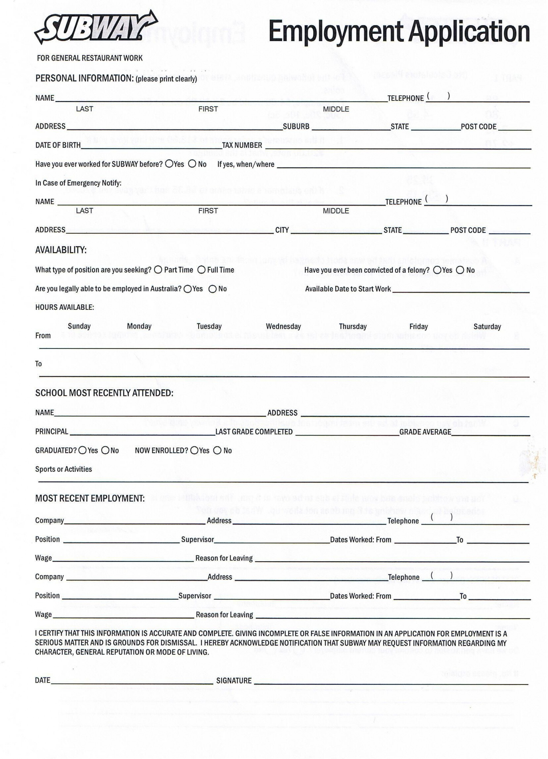 006 Awful Free Employment Application Form Printable High Definition  Employee1920