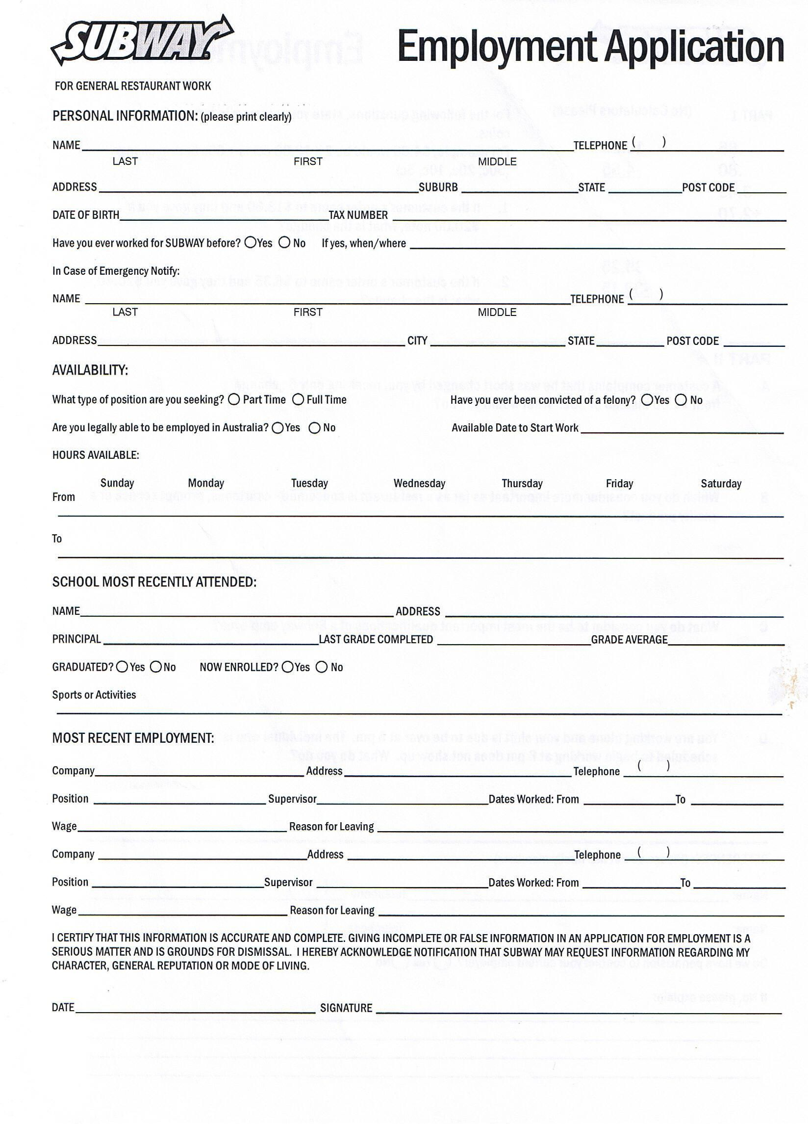 006 Awful Free Employment Application Form Printable High Definition  EmployeeFull